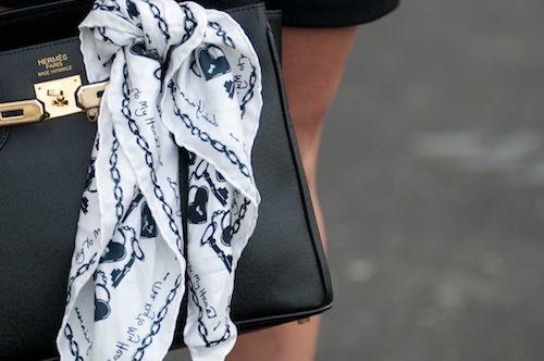 hermes.Gucci Bags, Hermes Bags, Details, Prada Bag, Handbags With Scarf, Scarves, Fashion Inspiration, Beautiful Life, Hermes Handbags