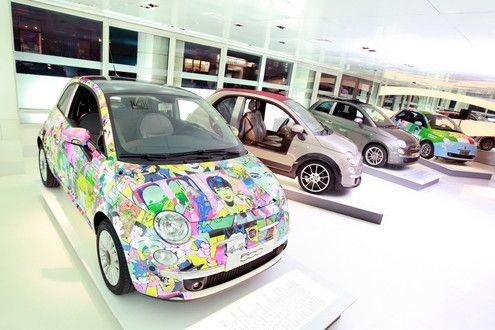 Fiat 500 Art Gallery In London