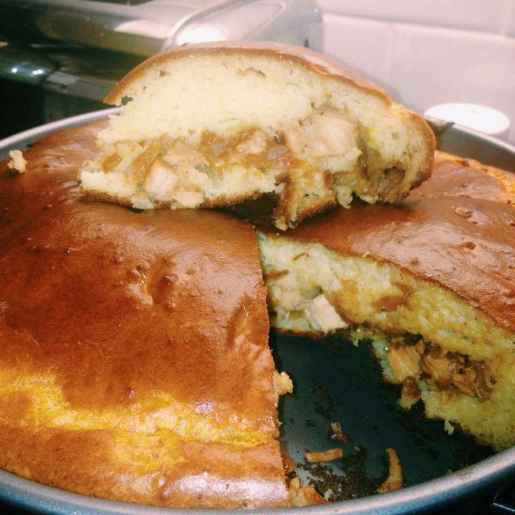 Рецепт: Пирог с курицей и грибами - все рецепты России