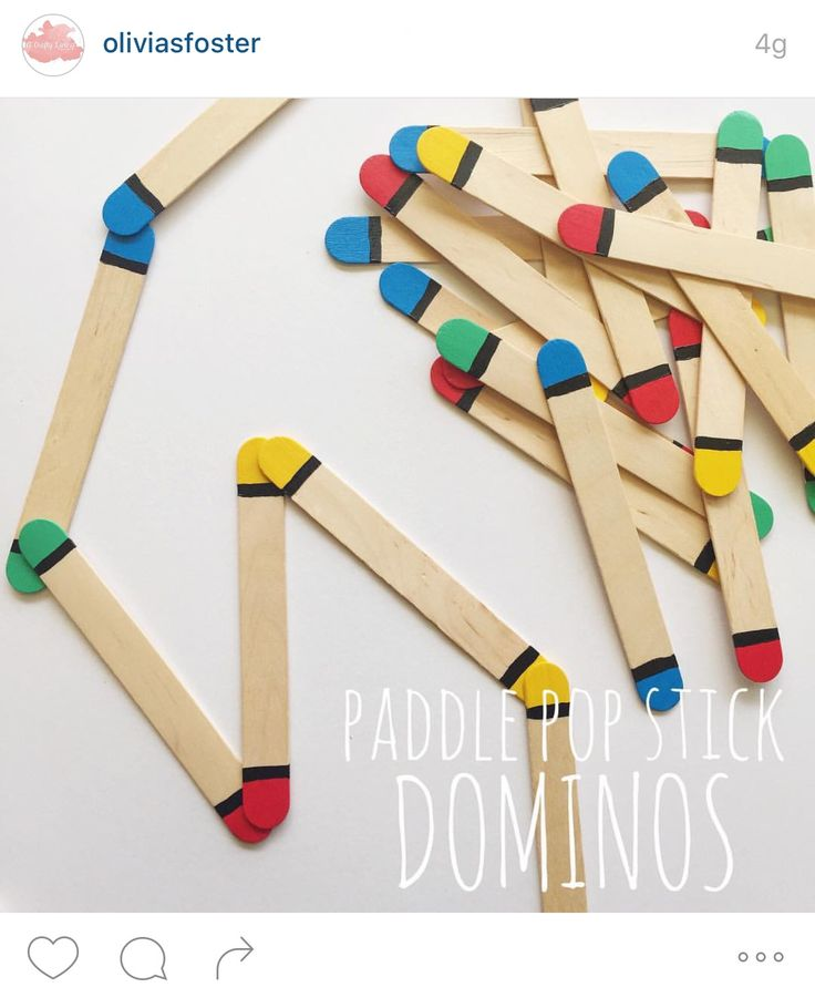Pop stick dominos