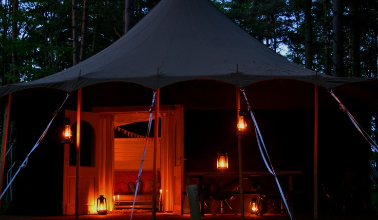 Glamping Deluxe lodge tent sleeps up to 6 people