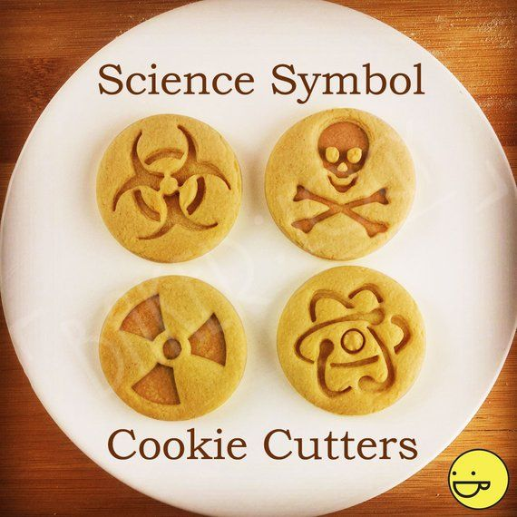Atom and other Science Symbols cookie cutter | biscuits cutters | atomic | protons | electrons | nucleus | neutrons | one of a kind | ooak