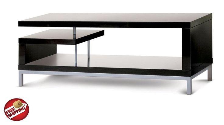 TV Stand Entertainment Center Media Console Storage Furniture Black Wood Modern #Modern