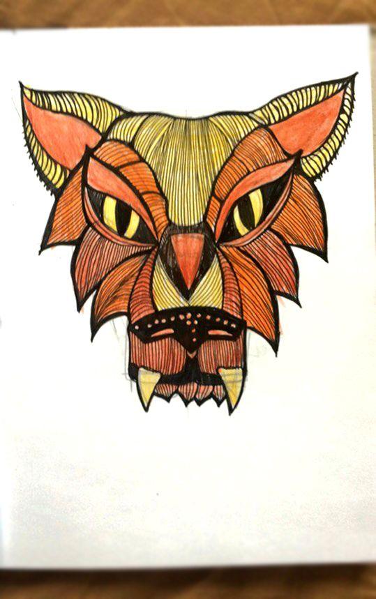 набросок. зарисовка. волк. А5, ручка, цветные карандаши #sketch #drawing #wolf #art #picture #idea #graphic #mood