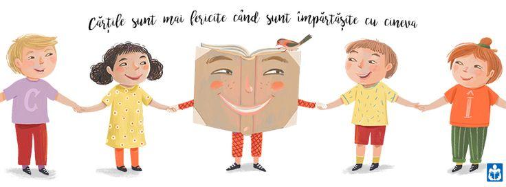 """Books are Happier When They are Shared With Someone.""  Livia Coloji for Citim  Împreună România."