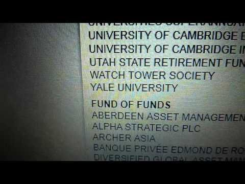 ▶The Watchtower Society has been gambling in hedge funds since 1947.    Because of the nature of hedge funds, one can only invest in them if: 1) Have a net worth of more than $1 million 2) Have earned $200,000 in each of the past two years 3) Have a reasonable expectation of making the same amount in the future 4) Are unregulated 5) Have to keep the funds invested for at least one year.