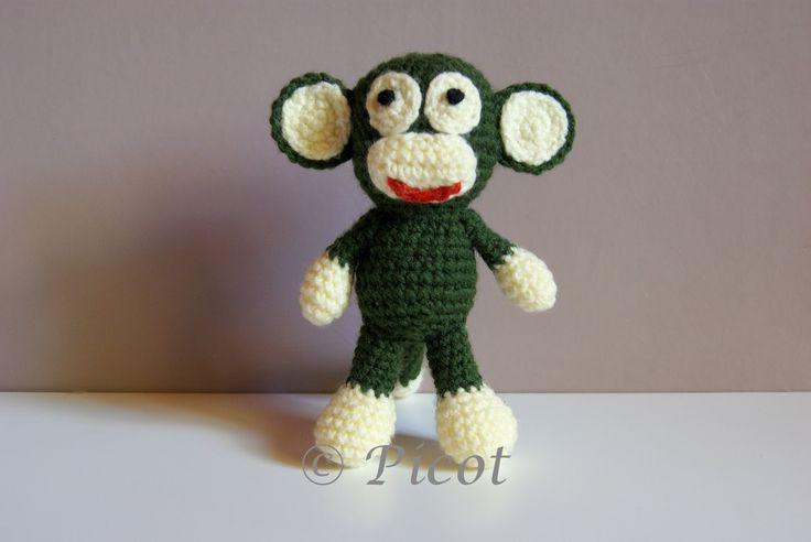 Picot - Szydełkowe Inspiracje: Szydełkowa małpka