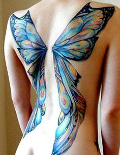 colorful fairy wings tattoo - Google Search
