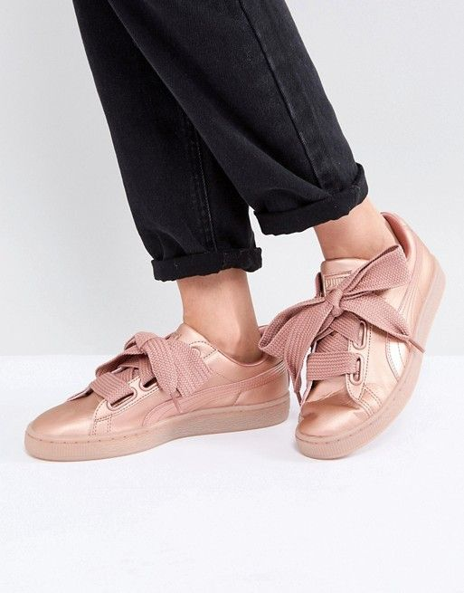 best sneakers 27dee 05ffb Puma Suede Heart Sneakers In Copper | Stylish Sneakers ...