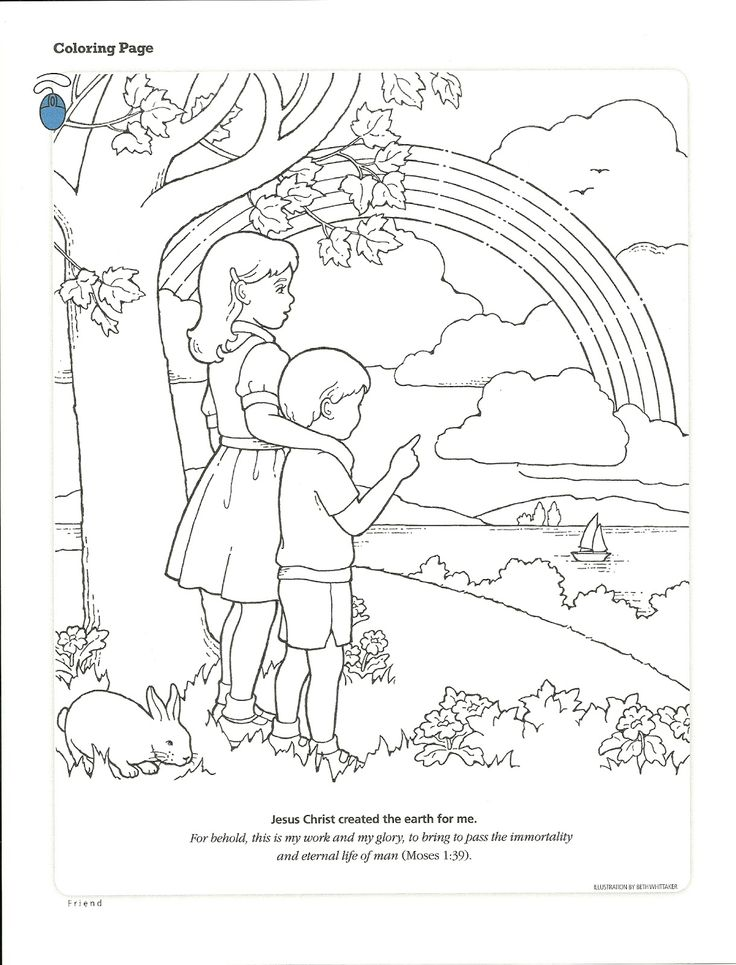 LDS Primary Coloring Pages Can Follow Jesus 39 Example