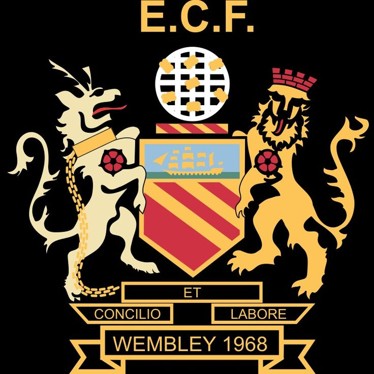 Man Utd crest for the 1968 European Cup Final.