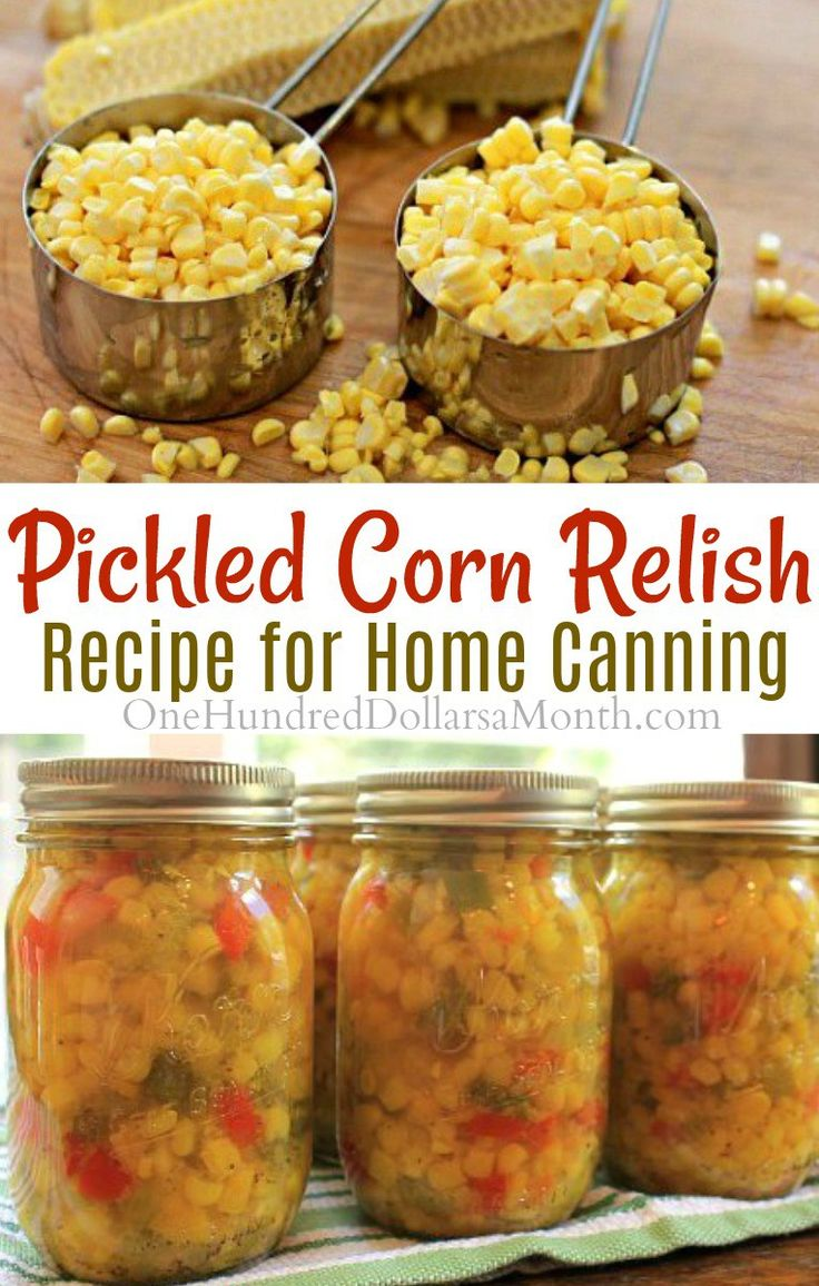 Pickled Corn Relish, Corn Relish Recipe, canning Recipes, Pickled Corn Recipes