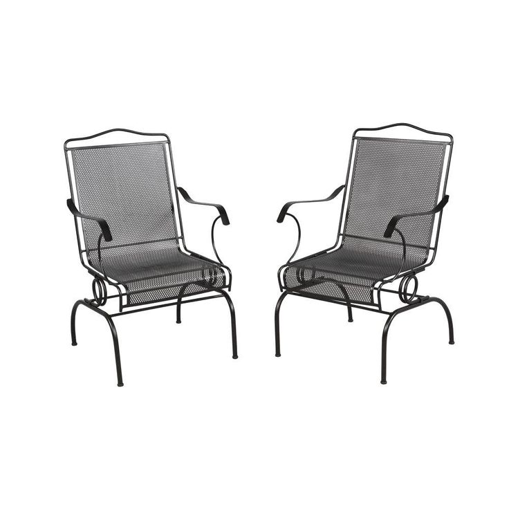 Home Depot Napa 2 Piece Wrought Iron Patio Chair Set 52 Shipped