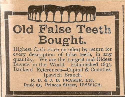 Gross.Spare Teeth, December 30 1911, Retro, Vintage Medicine, Vintage Ads, Plain Strange, False Teeth, Golden Stories, Fal Teeth