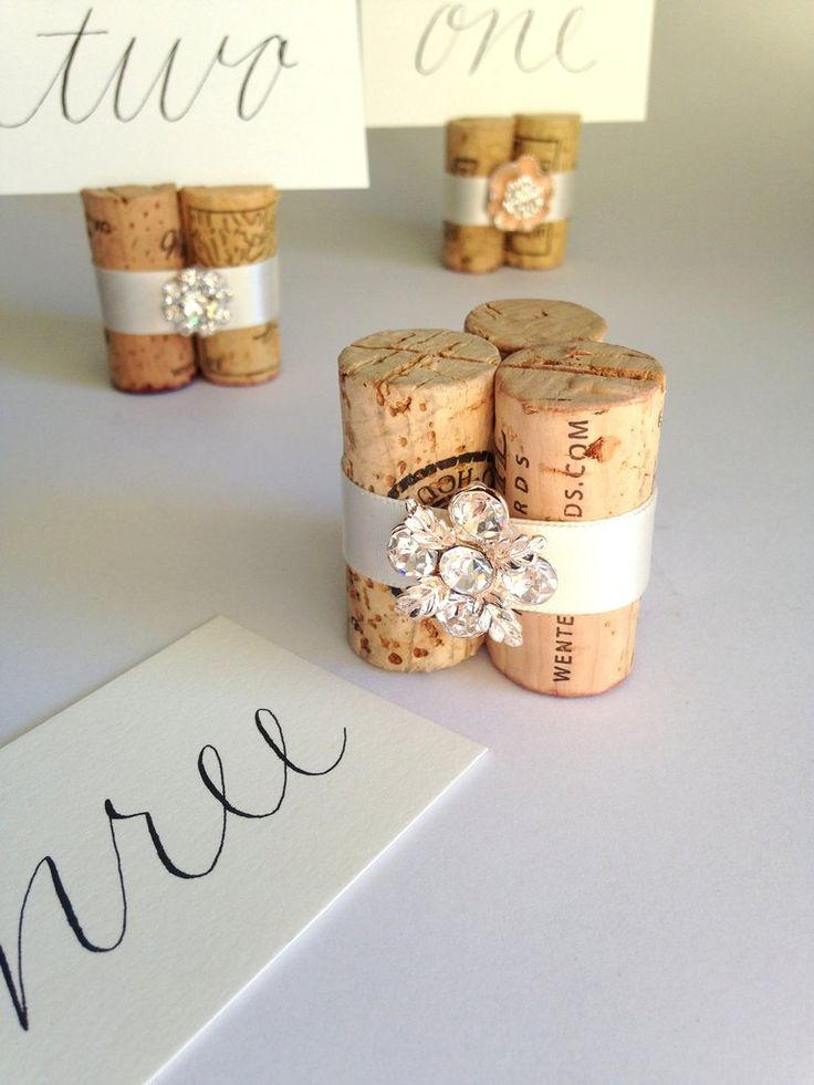 "Inspired by a glamorous vineyard wedding ... WHAT PEOPLE ARE SAYING ""Kara is absolutely the best! My place card holders and table number holders are amazing and perfect for my rehearsal dinner. HIGHLY More"