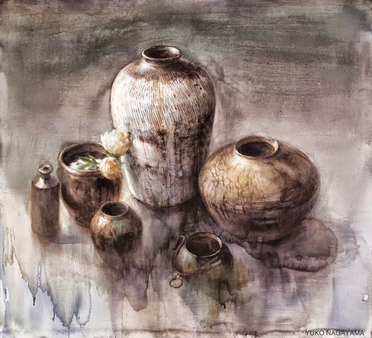 Yuko Nagayama 永山裕子, 1963 ~ Symbolic Watercolor painter   Tutt'Art@   Pittura * Scultura * Poesia * Musica  