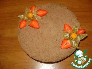 Насыпной пирог с творожно-клубничной начинкой