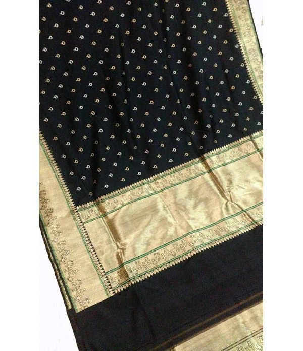Black Pure Handloom Banarasi Soft Silk Katan Wasket Tanshui Fully Sharp Weaved Saree------------Bollywood has inspired Indian fashion for years. Bollywood movies bring back the beauty of the Bananasi fabric with actresses adorning banarasi saris in their movies. This season, brace yourself for the latest trend and get yourself a bunch of banarasi sarees.------------SArees from luxurionworld.com