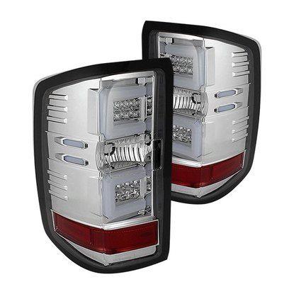 2014-2016 Chevy Silverado 1500, 2015-2016 Silverado 2500HD/3500HD, 2015-2016 GMC SIERRA 3500 HD dually Light Bar LED Tail Lights - Chrome