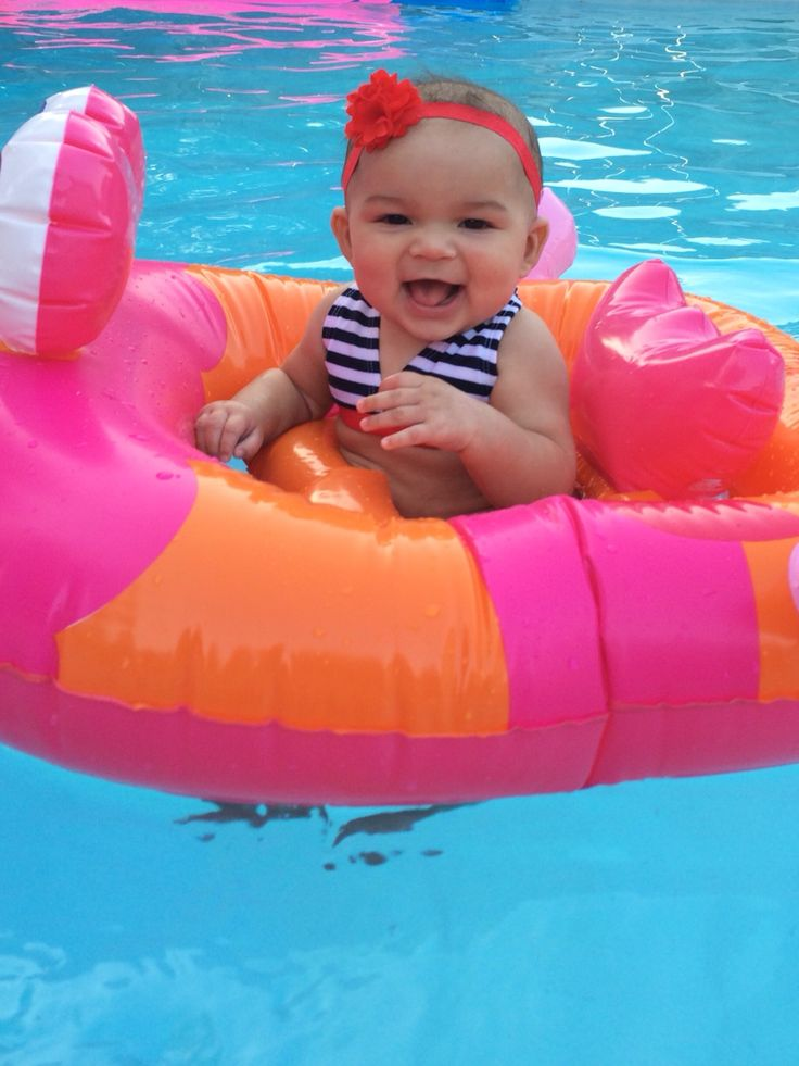 She's loving the pool!