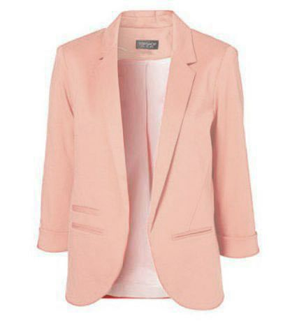 The Sophisticate Jacket In Peach #Colorize #ColorizeFashion