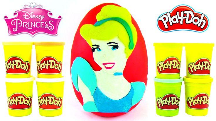 Sindirella Oyun Hamuru DEV Sürpriz Yumurta Açma Disney Prenses Oyuncakları