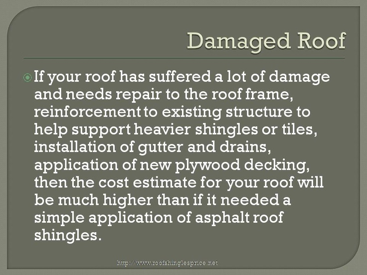 This report by Booker discusses asphalt roof shingles and its pricing. The reasons for higher roofing installation prices for certain roofing types and other roofing issues. Check out the roofing website http://roofshinglesprice.net/roof-shingles-price/roof-shingles-prices-how-costly-does-roof-replacement-get/ for more details