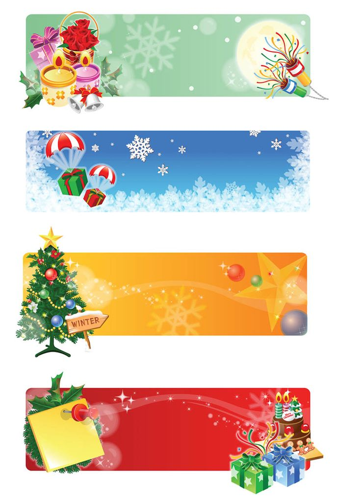Christmas banner designs vector
