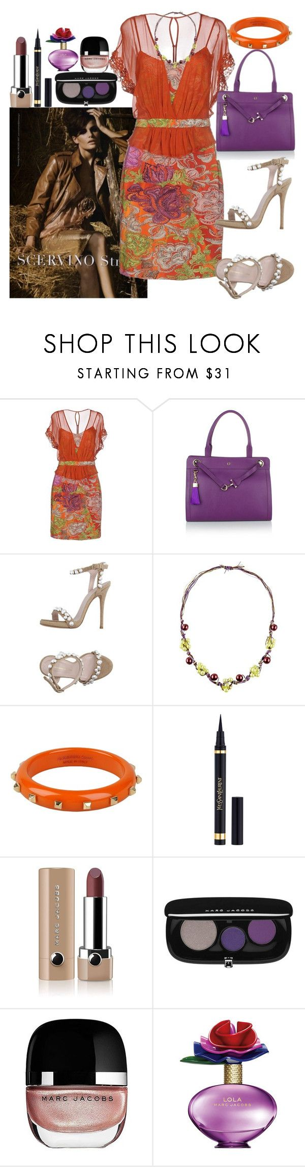 """""""Scervino Street"""" by denibrad ❤ liked on Polyvore featuring SCERVINO STREET, Etienne Aigner, Ermanno Scervino and Marc Jacobs"""
