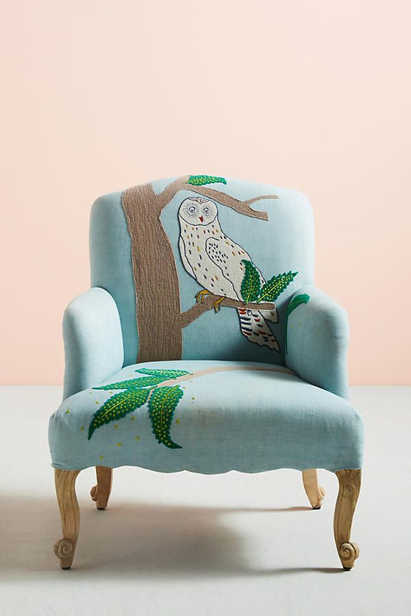 Slide View: 1: Treescape Dorrance Chair, Owl