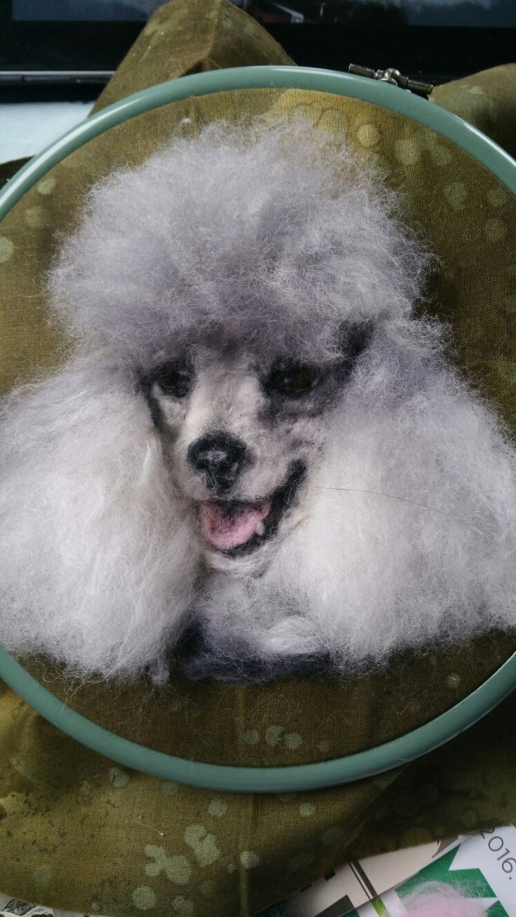 Needle felted Poodle by #ChicktinCreations