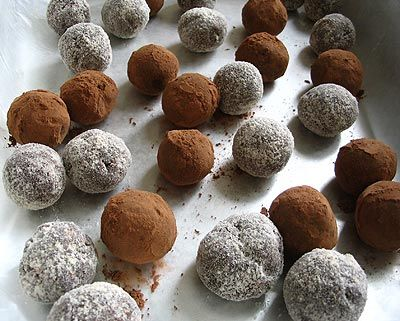I made these rum balls a few years back for a Christmas treat and have made them every Christmas since. They are somewhat like truffles, only stronger in taste because of the rum. Yum!
