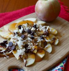 Healthy Apple Nachos | Nourished Existence