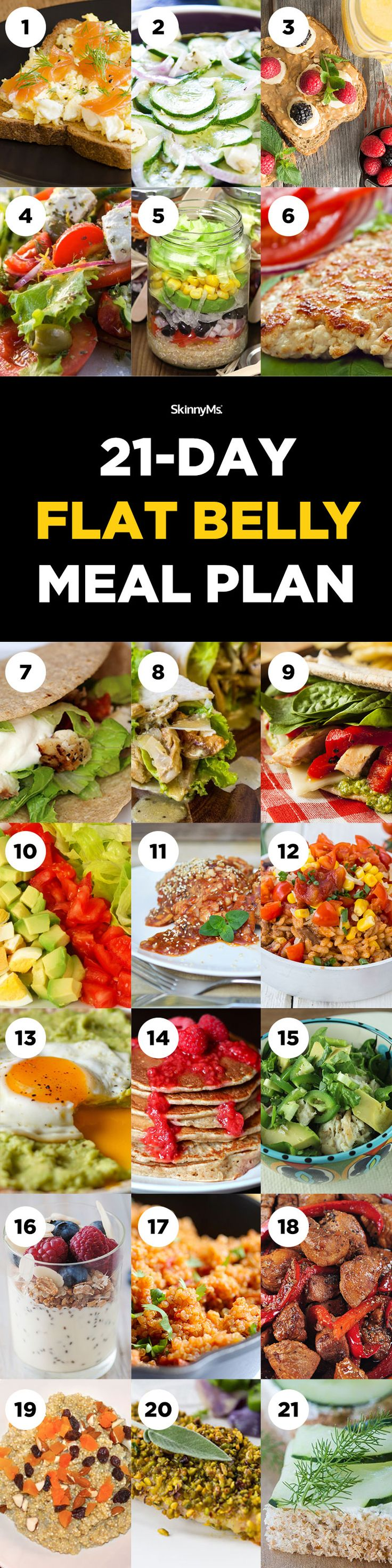 1137 best meal planning recipes images on pinterest cooking food 21 day flat belly meal plan forumfinder Images