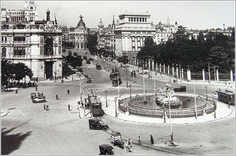 Plaza de Cibeles  Madrid     1929