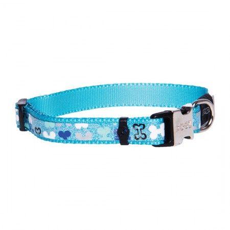 Rogz Lapz Trendy Dog collar Blue - Medium