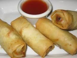 VEGETABLE SPRING ROLLS  Pei Wei Copycat Recipe   Serves 4   Rolls:  2 large carrots, julienned  2 -3 julienned green onions  1/2 sweet r...