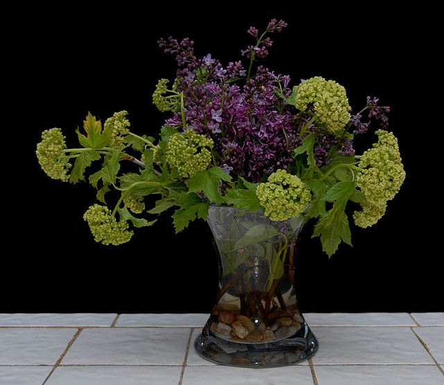 Lilacs and viburnum from Rittners floral School, Boston, MA  www.floralschool.com