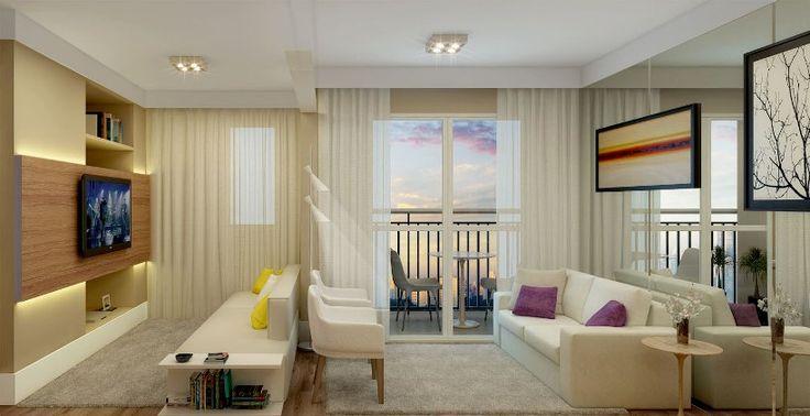 Perspectiva Living Apto 3 dorms com sala ampliada - 59.04m²   http://planoeplano.com.br/imovel/fatto-novo-panamby