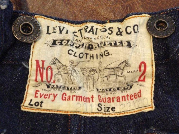 1890's Original Vintage Levi's Kids Lot 204 No2 Jeans, Denim