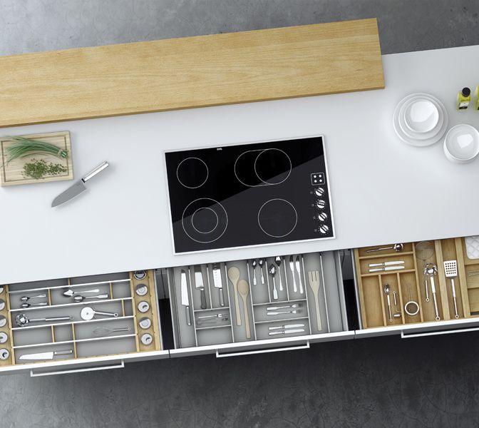 Equipamiento. Cuberteros, organizadores y plateros. #muebles #cocina #diseño #kitchen #design #LivingKitchen #cocinasConCorazón