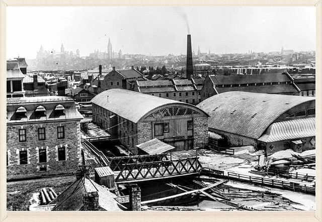 EB Eddy Mill ca. 1890 near Chaudiere Falls Ottawa, ON