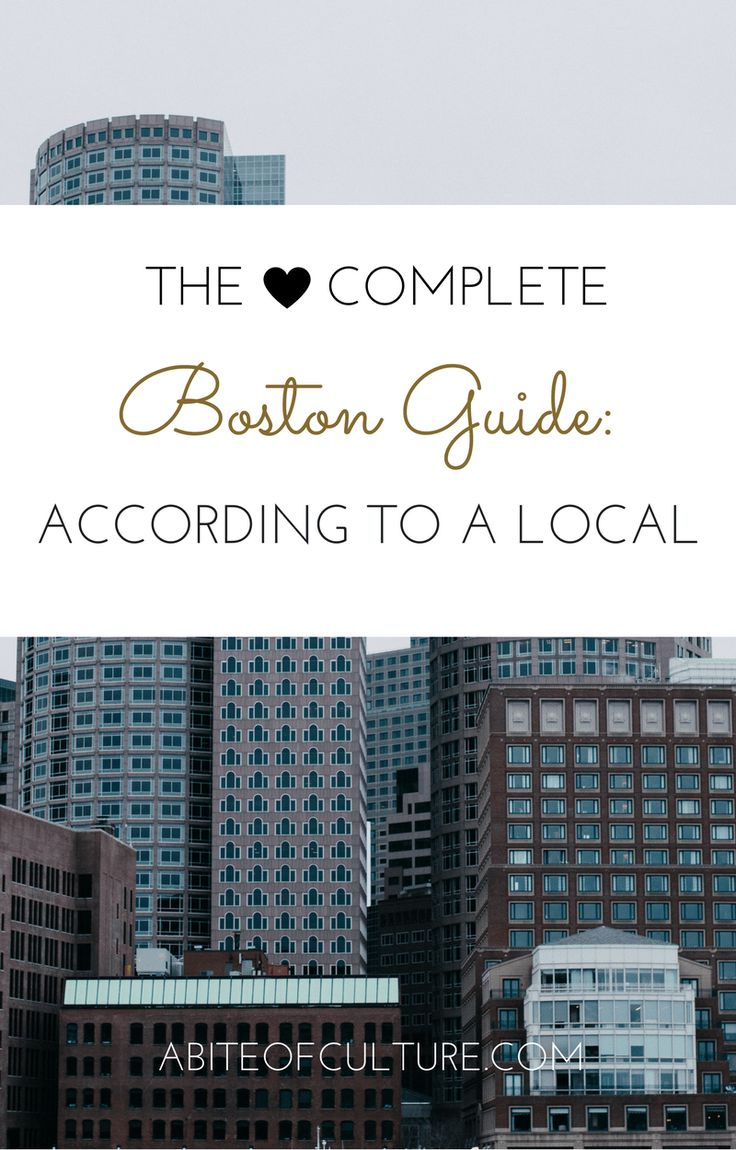 The Complete Boston Guide: According to a Local; all the best tips from a local on what to do, eat, see, and more in Boston. A complete guide to Boston to make your trip perfect!