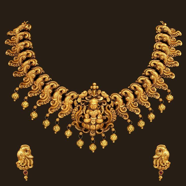 Lakshmi necklace, south India style