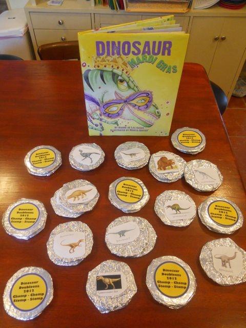 Dinosaur Doubloons for Mardi Gras    Happy Birthday Author: Happy Birthday Dianne de Las Casas - January 15