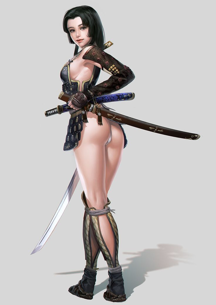 Sexy female samurai art think, that