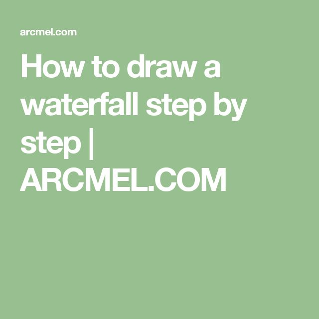 How to draw a waterfall step by step | ARCMEL.COM