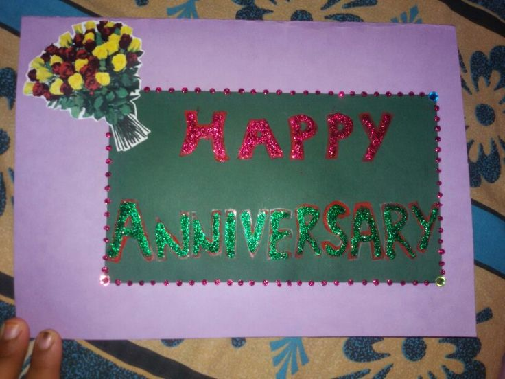 Simple happy anni. Card- Made by Ashna Mundhra