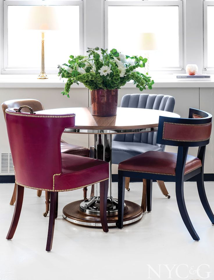 A Selection Of Chairs Around A Yacht Dining Table, All By Soane Britain