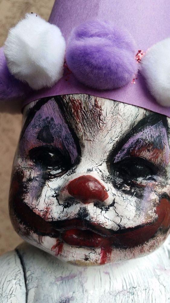 Halloween Horror Prop Evil Clown Dead Doll
